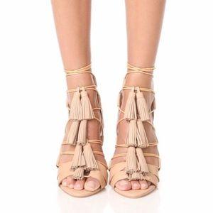 Loeffler Randall Nude Tassel Luz Sandals Size 7